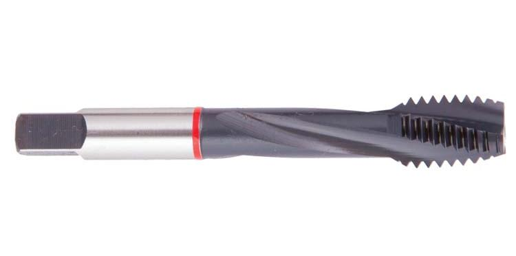 Spiral Flute Red Ring TC-HT Taps for High Tensile Materials
